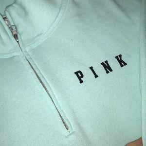 PINK Victoria's Secret Tops - Half zip up sweatshirt
